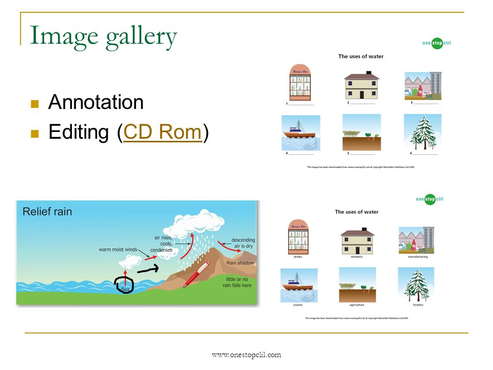 www.onestopclil.com Image gallery Annotation Editing (CD Rom)CD Rom