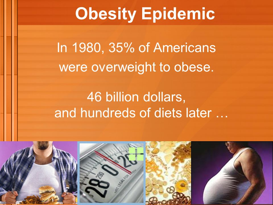 In 1980, 35% of Americans were overweight to obese.