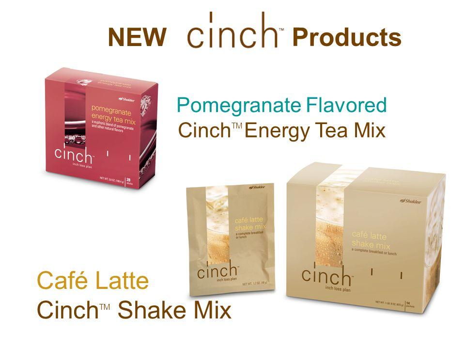 NEW Pomegranate Flavored Cinch TM Energy Tea Mix Café Latte Cinch TM Shake Mix Products