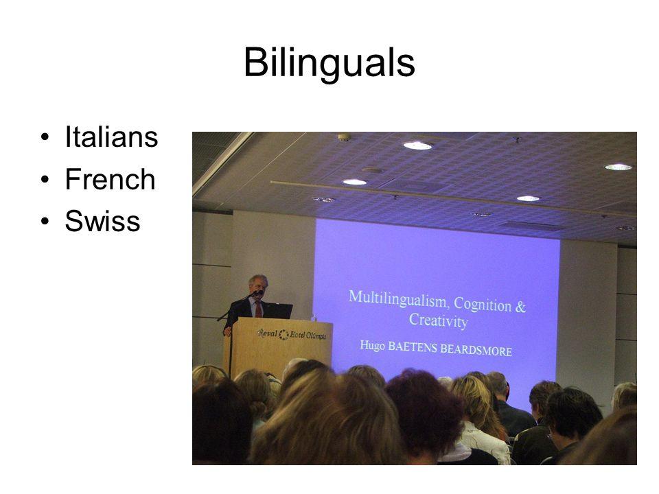 Bilinguals Italians French Swiss