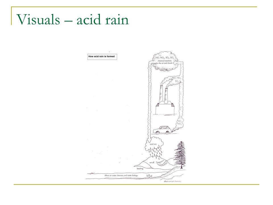 Visuals – acid rain