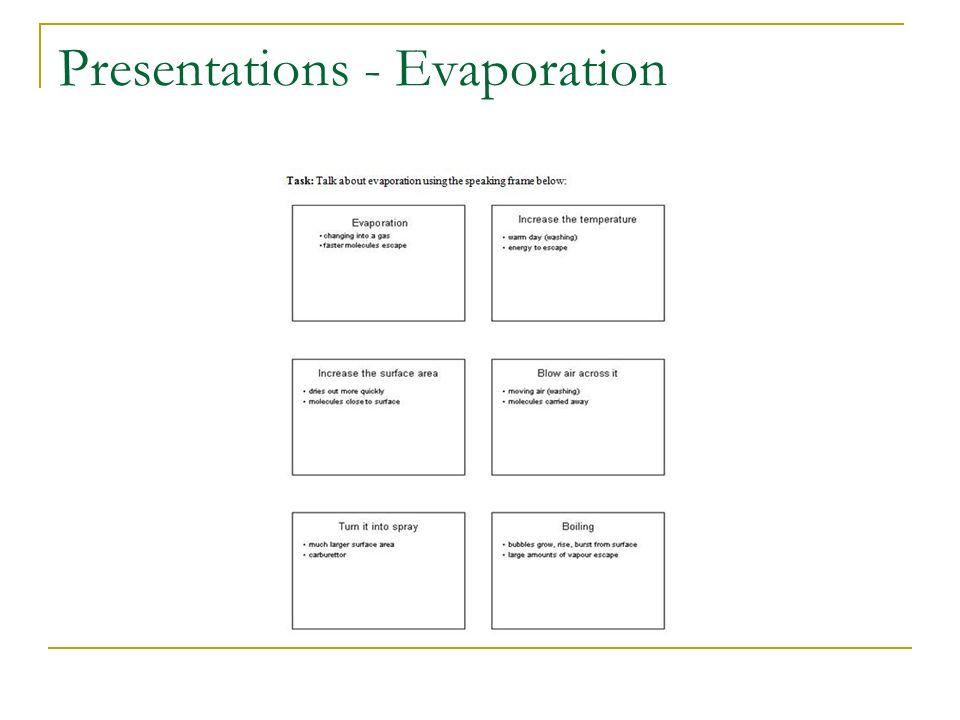 Presentations - Evaporation