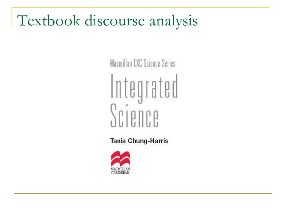 Textbook discourse analysis
