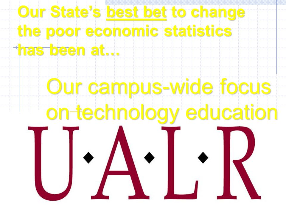 The George W. Donaghey College of Information Science and Systems Engineering Our States best bet to change the poor economic statistics has been at…