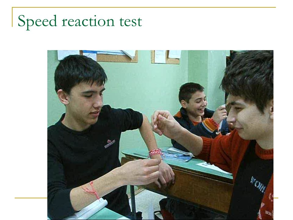 Speed reaction test