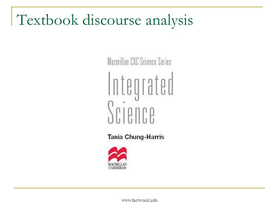 www.factworld.info Textbook discourse analysis
