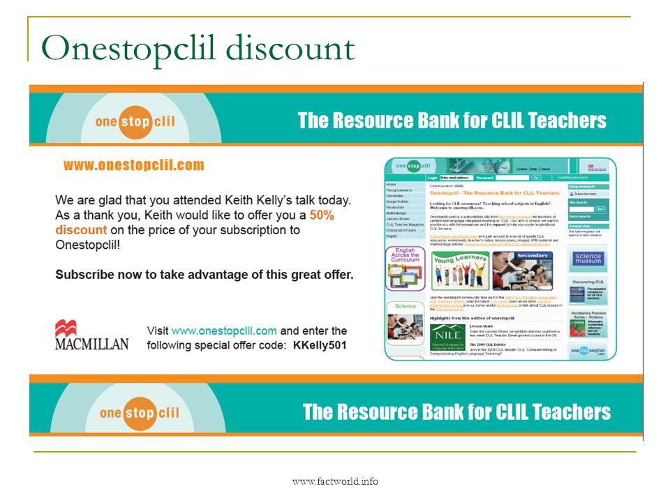 www.factworld.info Onestopclil discount