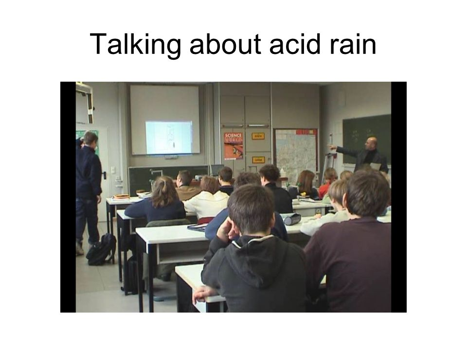 Talking about acid rain
