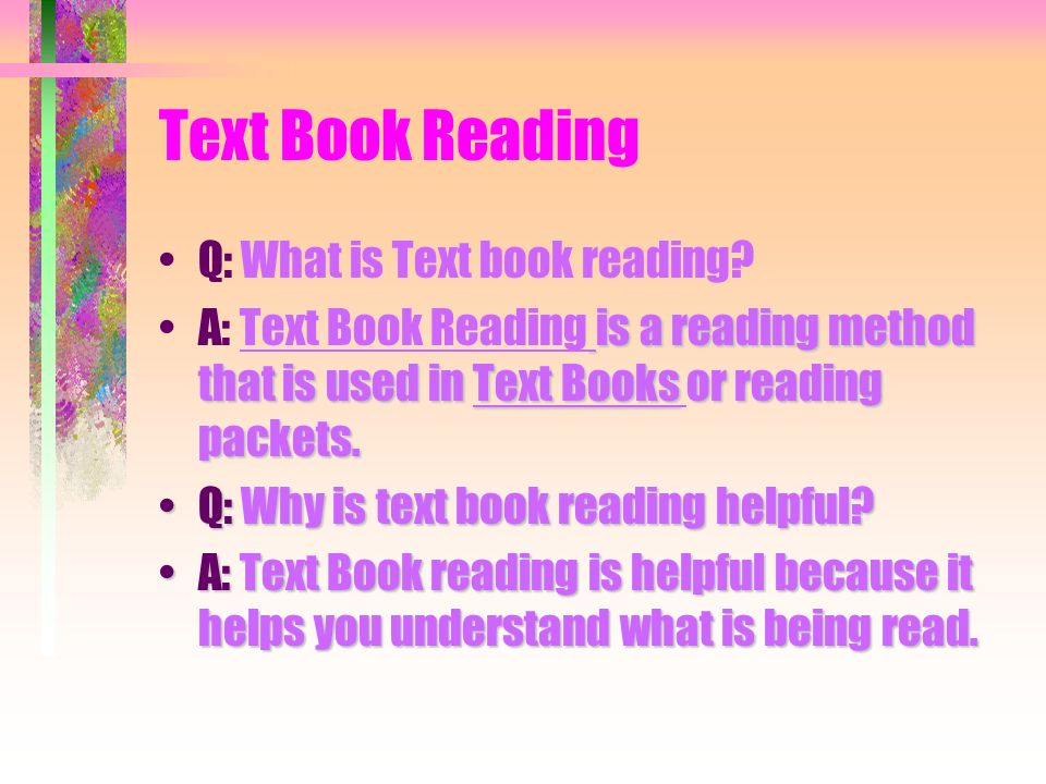 Reading Study Skills Q: Why are Reading Study Skills important? A: Reading Study Skills are important because it can help you be a better reading and