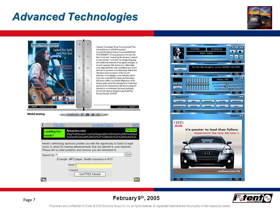 Proprietary and confidential for Client.© 2004 Solutionz Group Intl.
