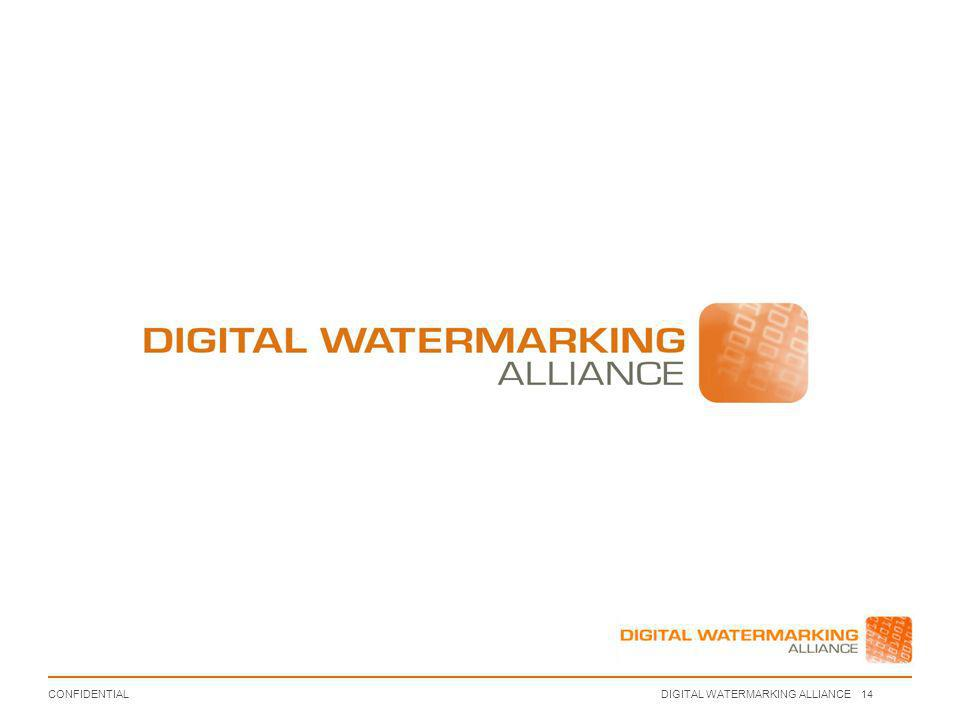 CONFIDENTIAL DIGITAL WATERMARKING ALLIANCE 14