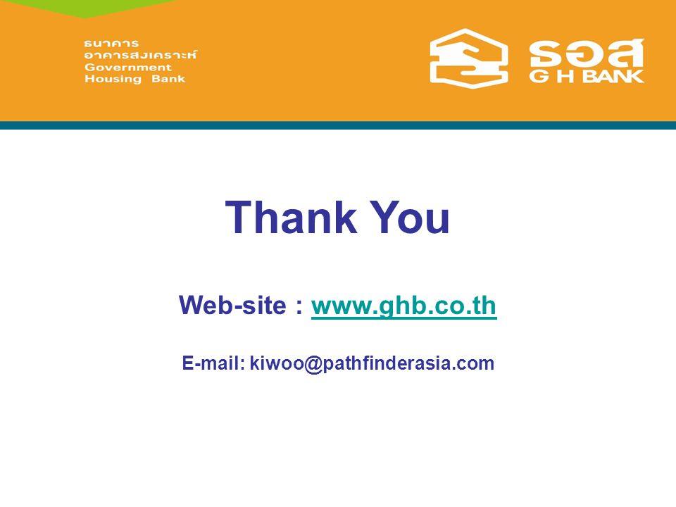 Thank You Web-site : www.ghb.co.thwww.ghb.co.th E-mail: kiwoo@pathfinderasia.com