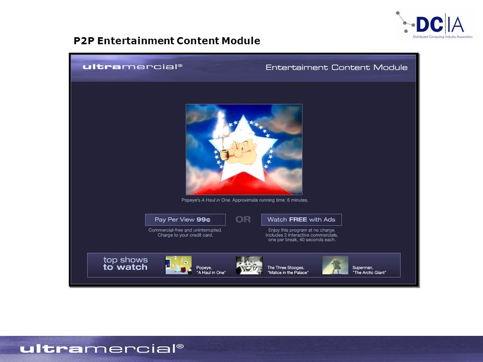 P2P Entertainment Content Module