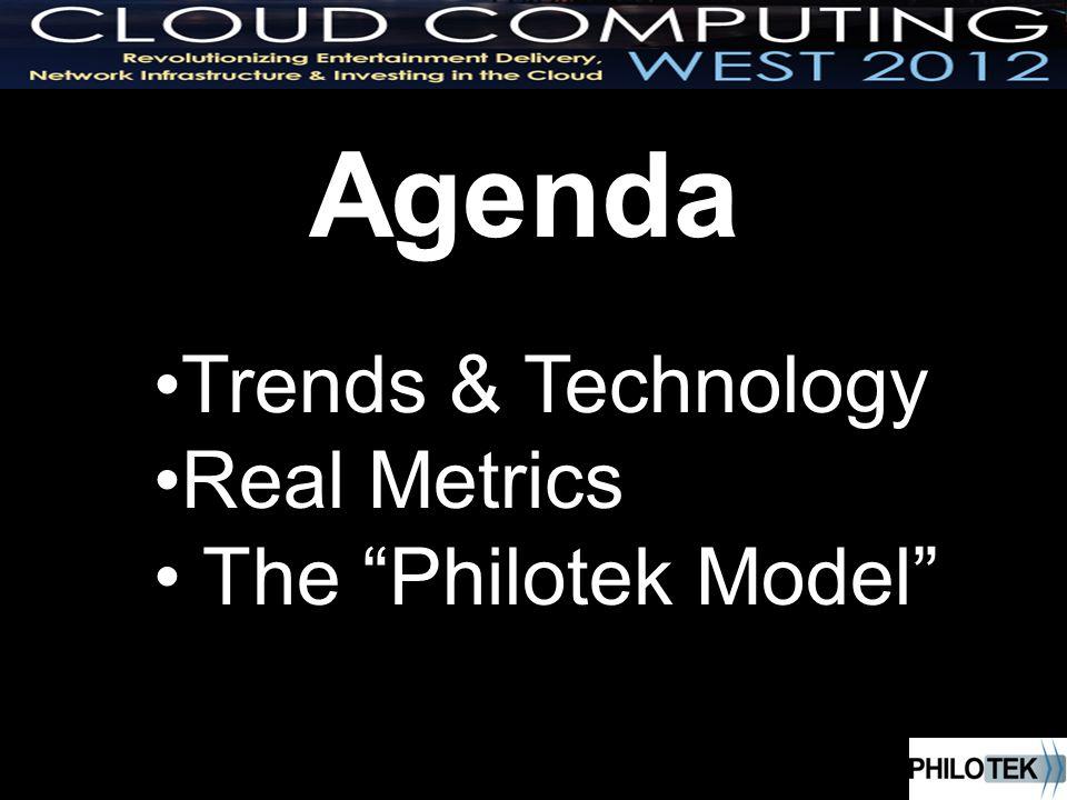 Agenda Trends & Technology Real Metrics The Philotek Model