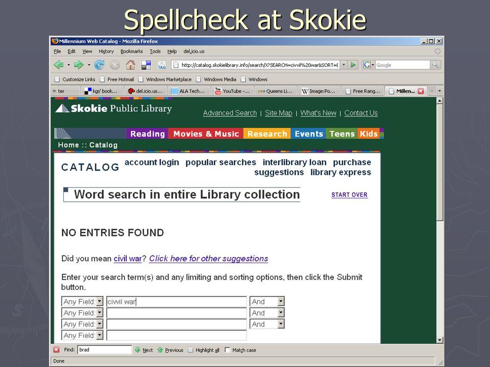 Spellcheck at Skokie