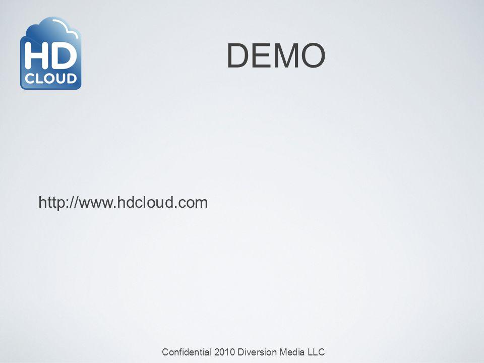 Confidential 2010 Diversion Media LLC DEMO http://www.hdcloud.com