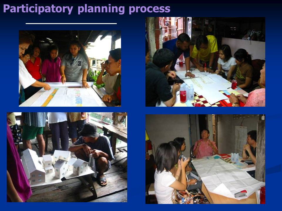 Participatory planning process