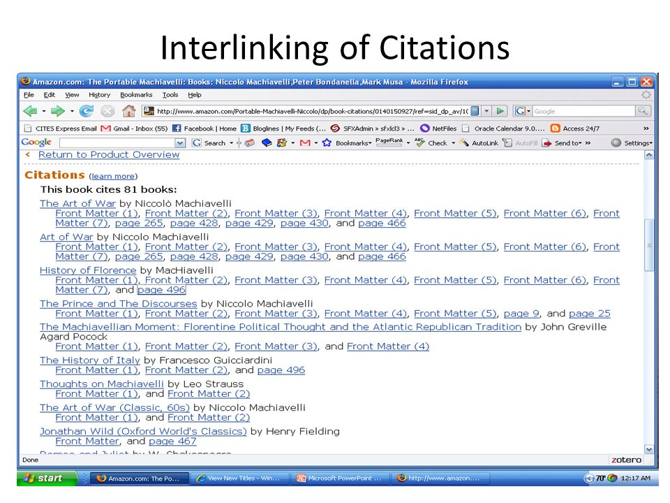 Interlinking of Citations 17