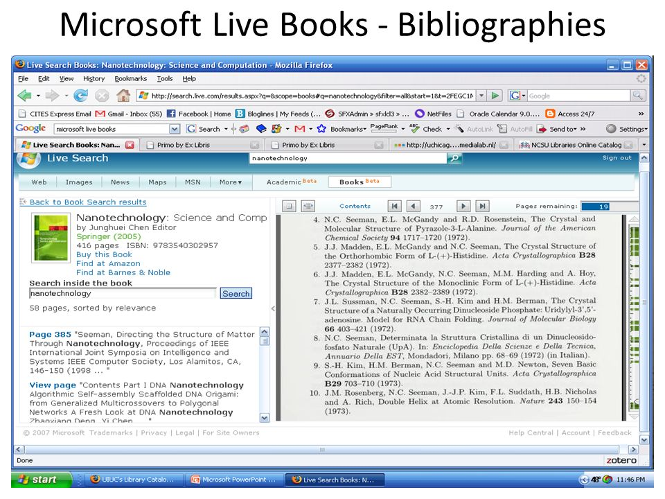 Microsoft Live Books - Bibliographies 21