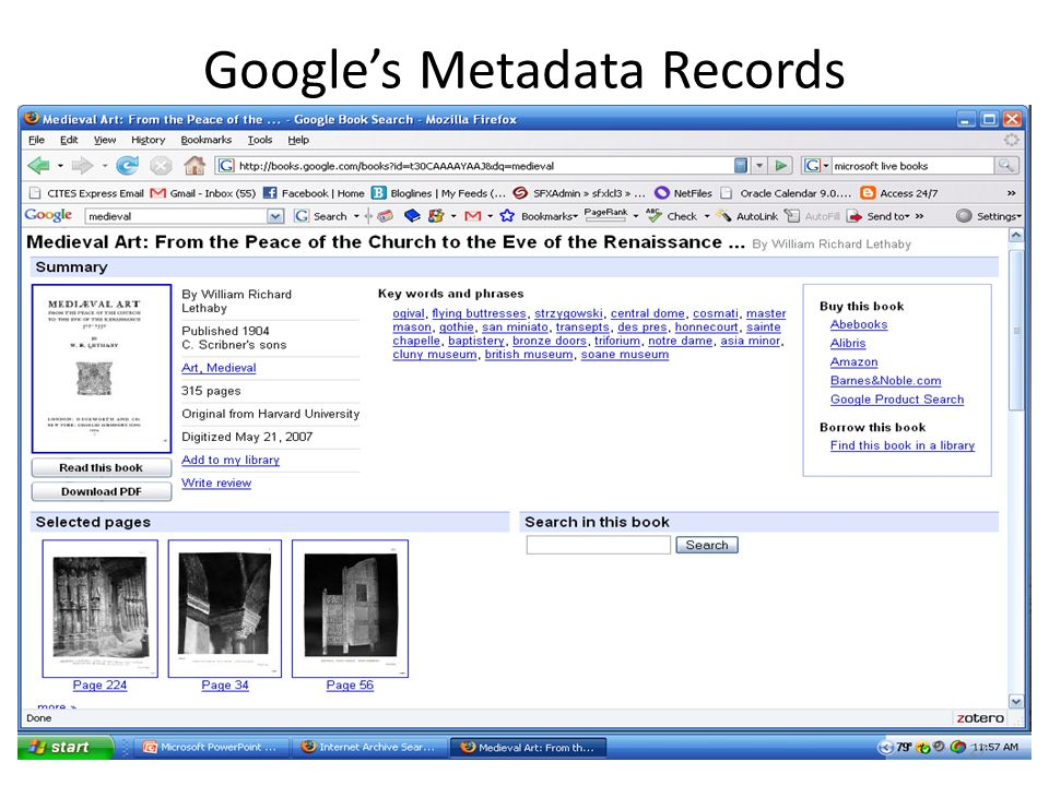 Googles Metadata Records 27