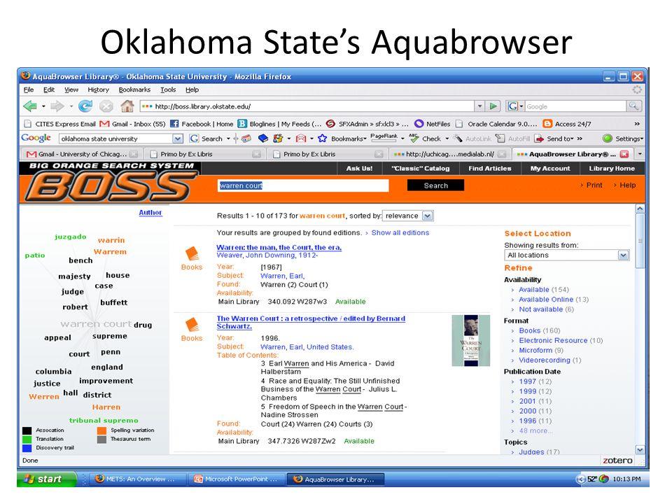 Oklahoma States Aquabrowser 40