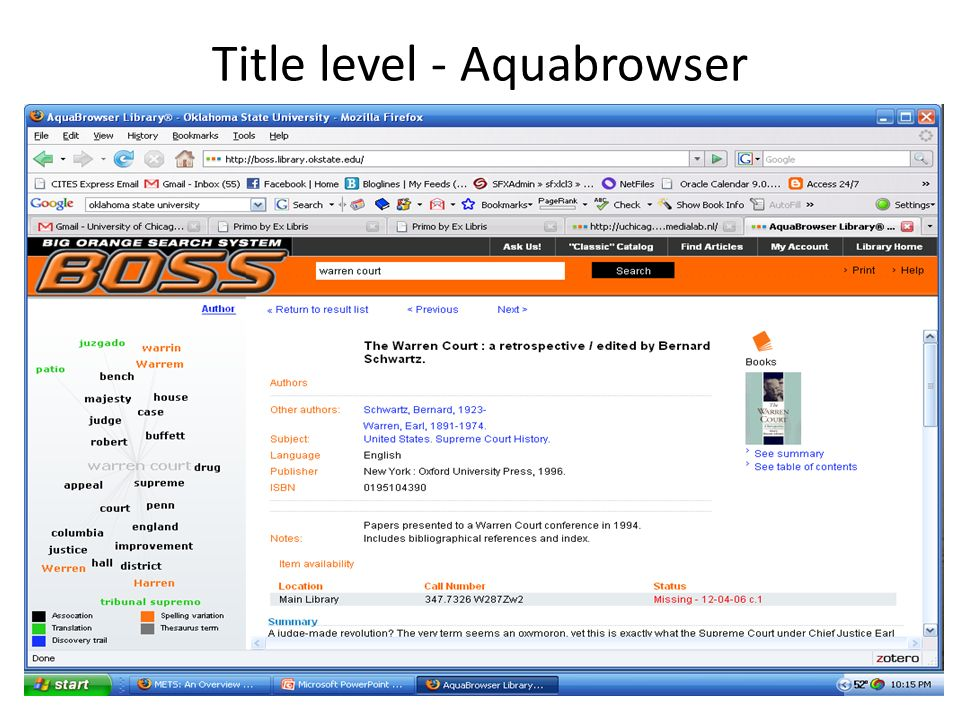 Title level - Aquabrowser 41