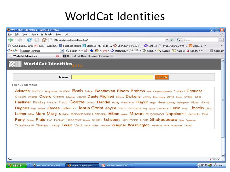 WorldCat Identities 51