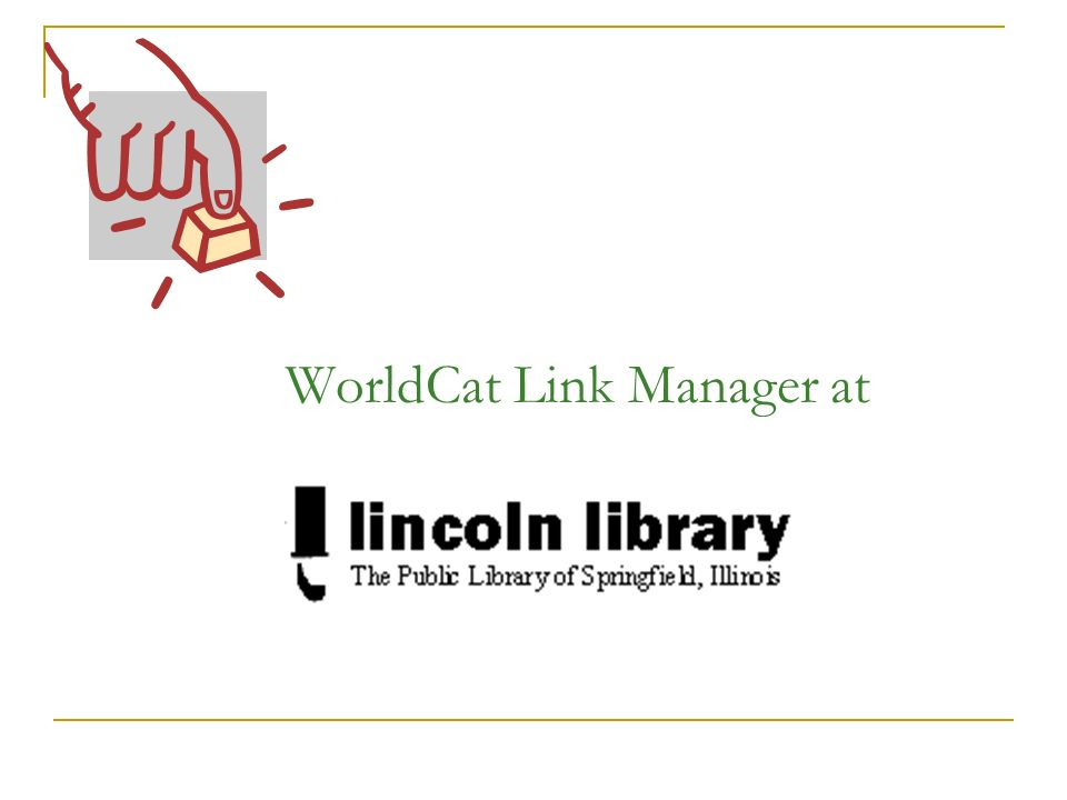 WorldCat Link Manager at