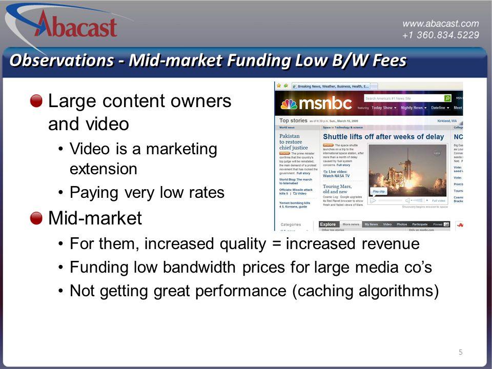6Abacast - Confidential6 Demand & CDN Coverage (2005) Content Trends… Supply vs. Demand
