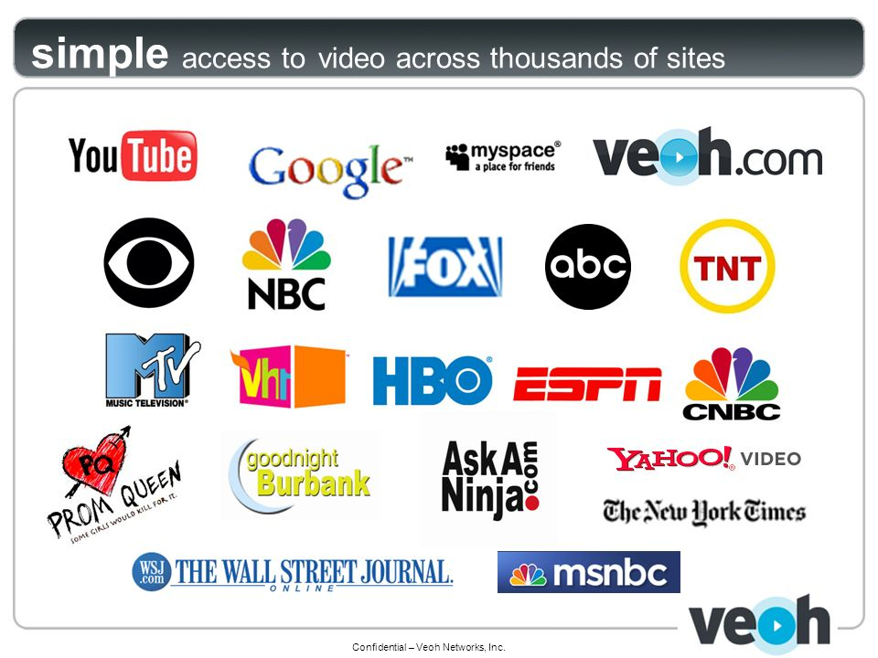 Confidential – Veoh Networks, Inc. simple access to video across thousands of sites