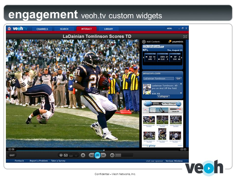 Confidential – Veoh Networks, Inc. engagement veoh.tv custom widgets