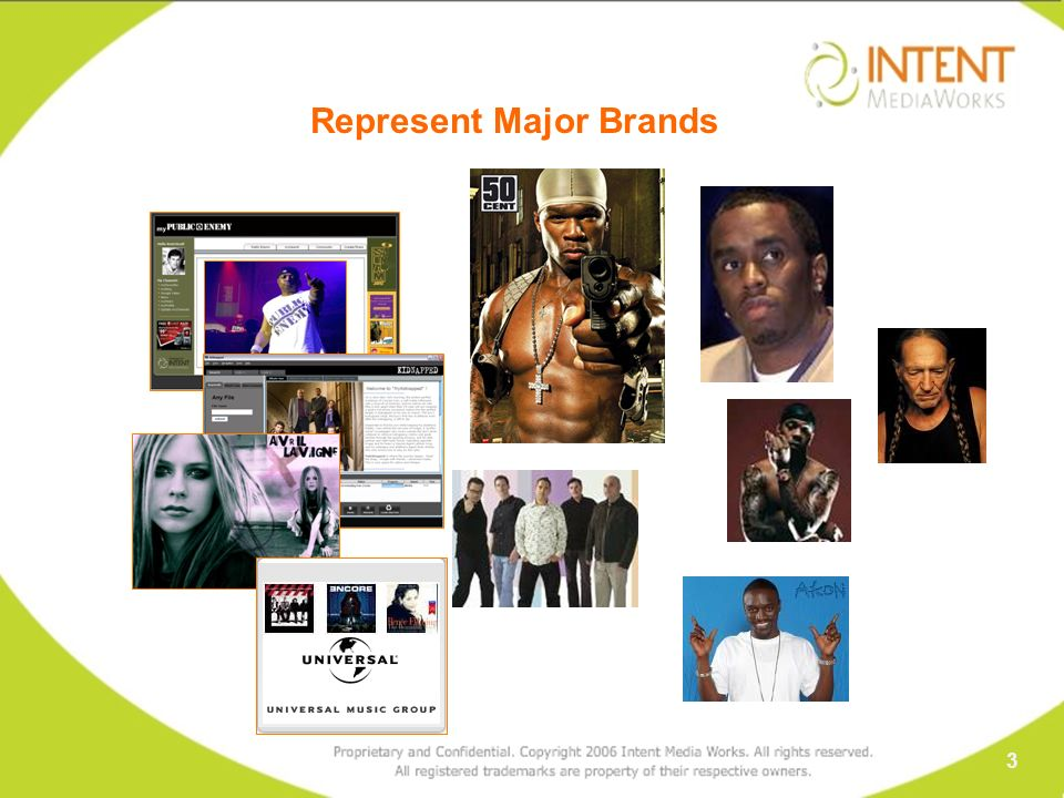 Represent Major Brands 3