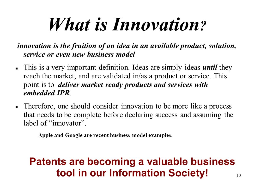10 What is Innovation .