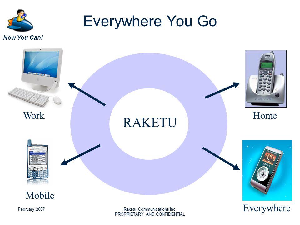 Now You Can. February 2007Raketu Communications Inc.