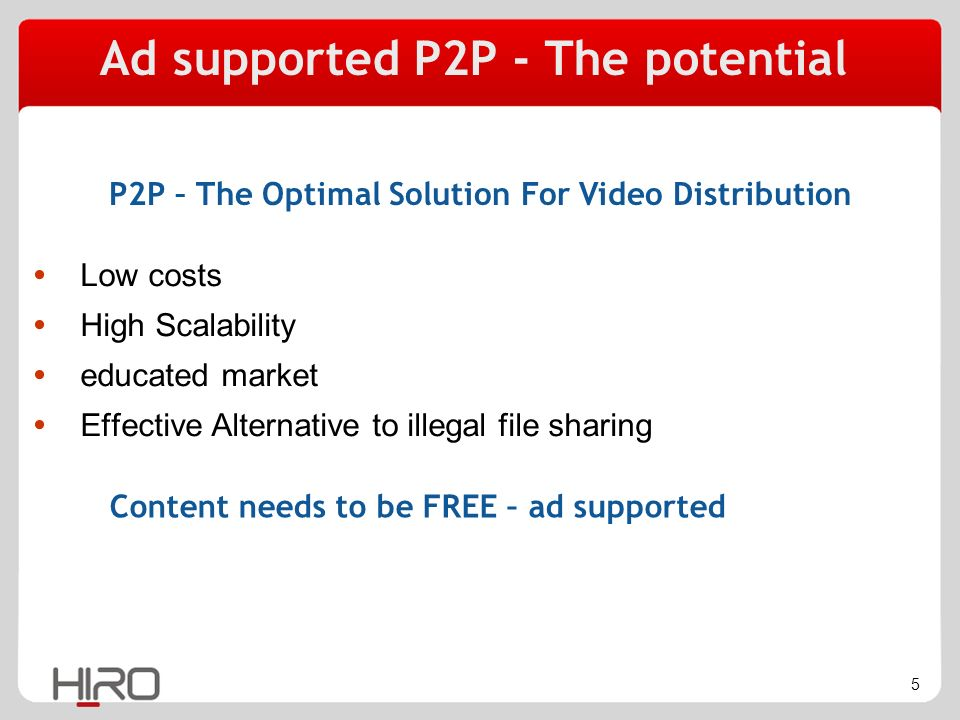 6 Ad supported P2P - The challenges Share the same files but view different ads View updated ads irrespective to the download time Offline viewing with up-to-date ads DRM – protecting the content without limiting the users