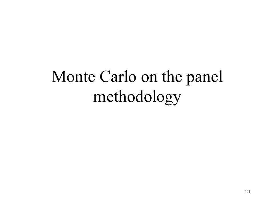 21 Monte Carlo on the panel methodology