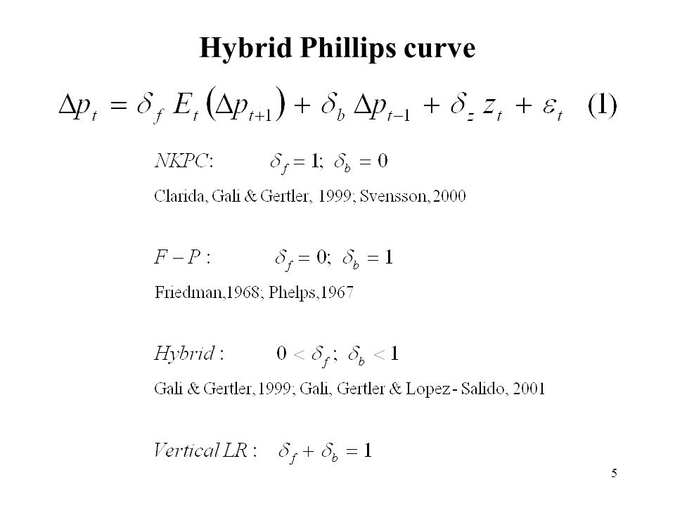 5 Hybrid Phillips curve