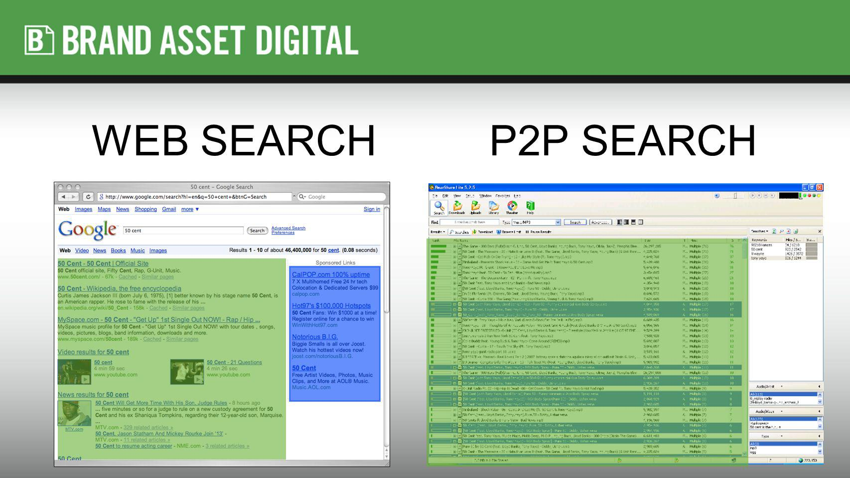 WEB SEARCHP2P SEARCH