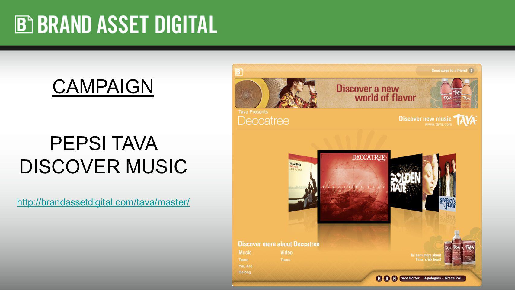 PEPSI TAVA DISCOVER MUSIC http://brandassetdigital.com/tava/master/