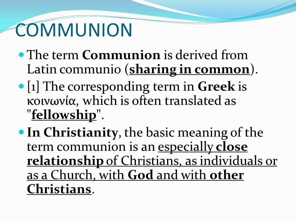 The word Commune Commune is to talk to, commune with, something that you can speak to and itll speak back to you.