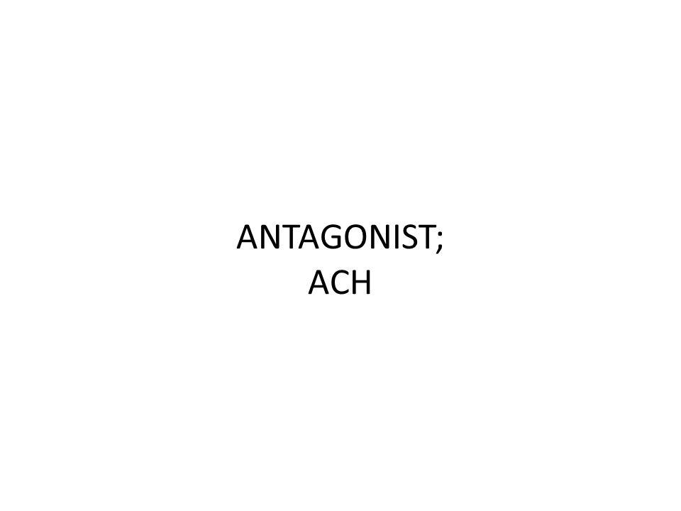 ANTAGONIST; ACH