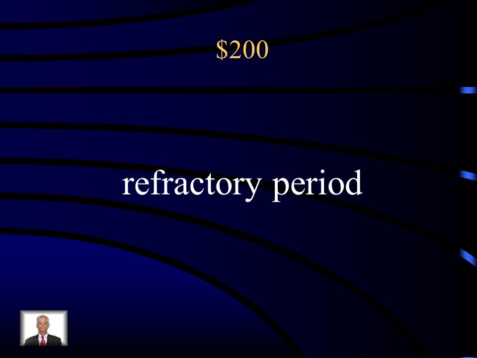 200 A resting period after orgasm, during which a man cannot achieve another orgasm.