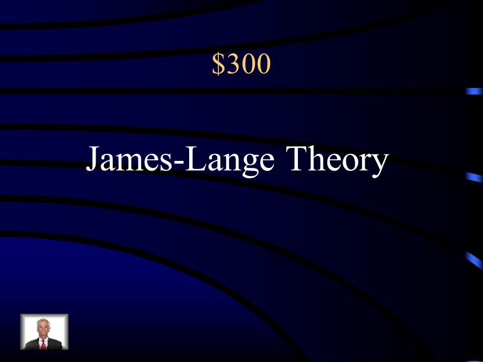 $300 The theory that our experience of emotion is our awareness of our physiological responses to emotion arousing stimuli. Physiological arousal befo