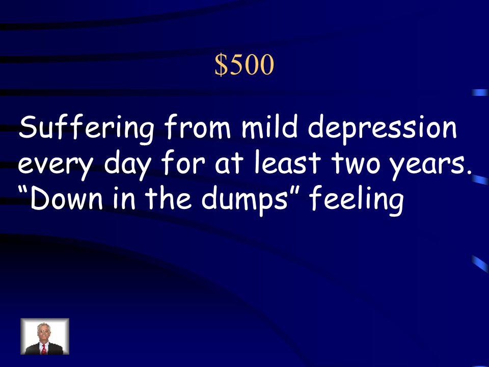 $400 Anti-social personality disorder