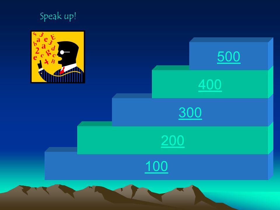100 200 300 400 500 Solve the Problem