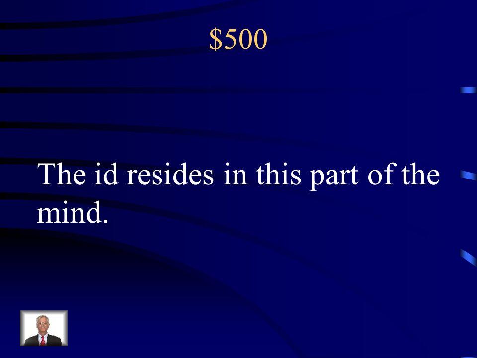 $400 Pre-consciousness