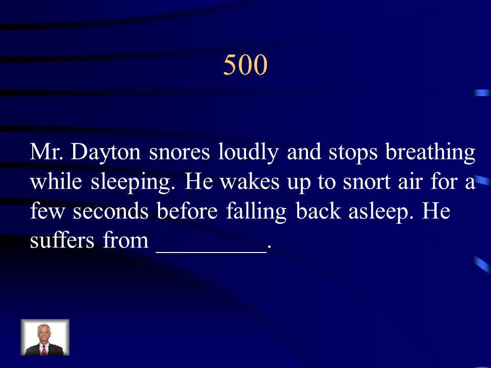 400 REM sleep; stage 4