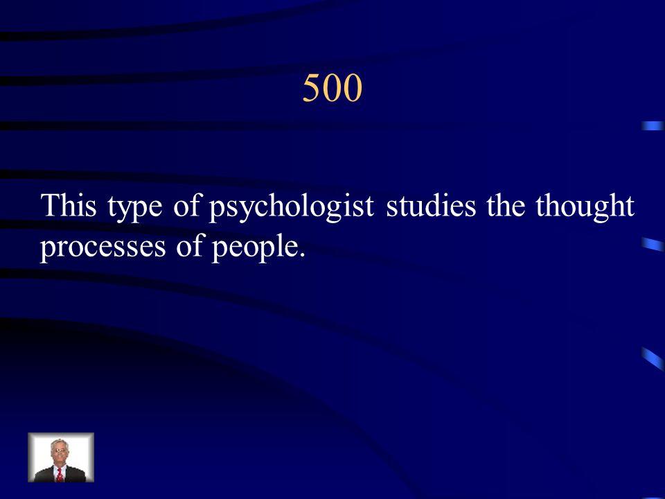 400 Industrial/Organizational psychologist