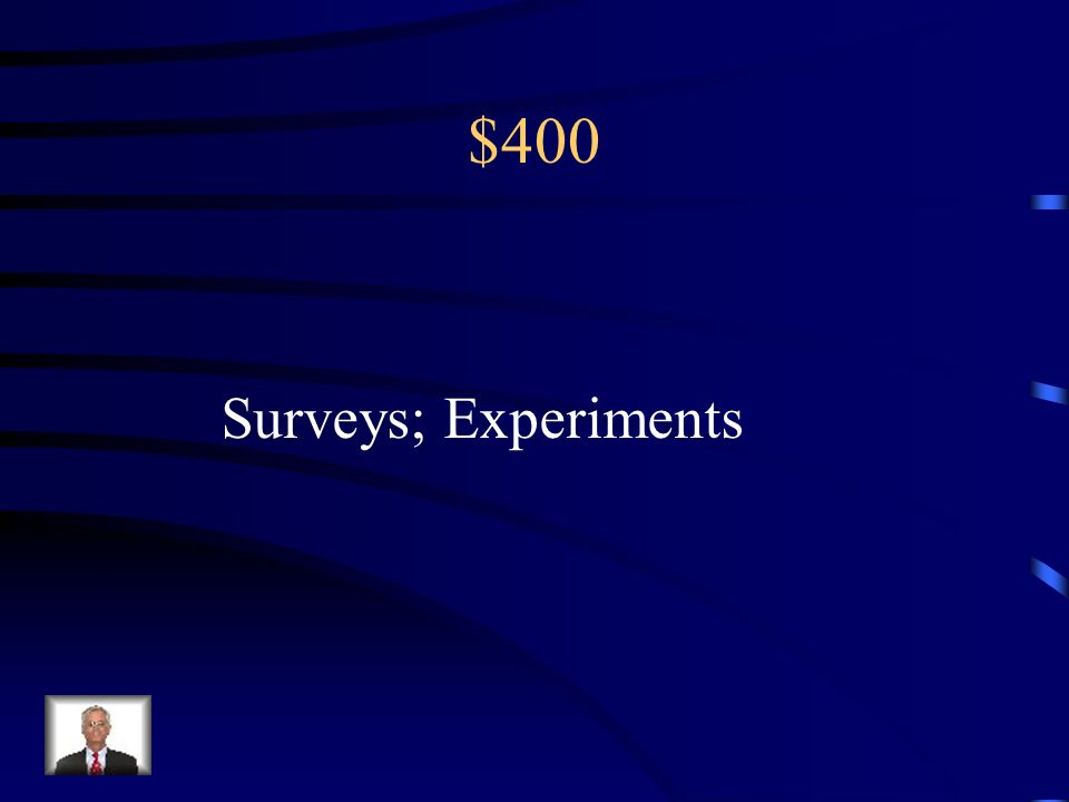 $400 Random sampling is to ________ as Random assignment is to ________.
