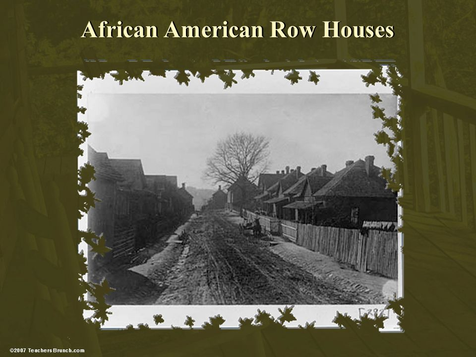 African American Row Houses